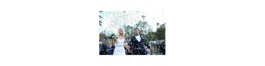 Confetti y serpentina complementos para ceremonia